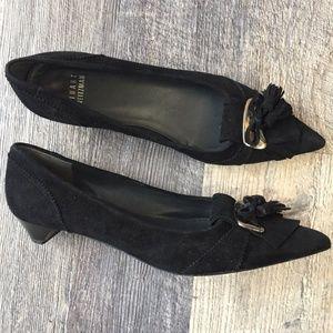 Stuart Weitzman Black Suede Tassle Pumps Heels 5.5